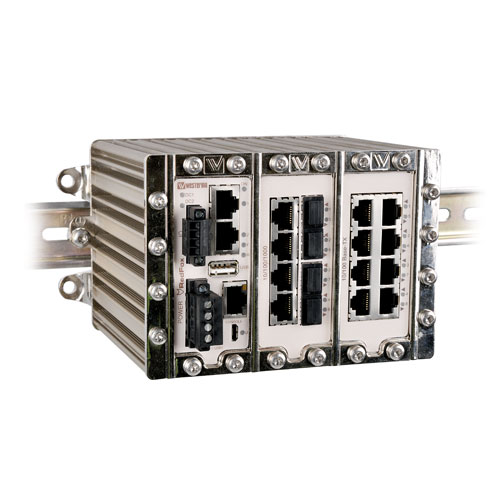 Industrial fibre switch by Westermo