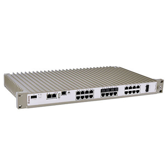Industrial Rackmount Routing Switch RFIR-227-F4G-T7G-DC by Westermo.